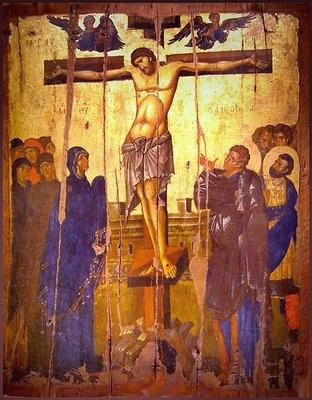 Icono de la Crucifixión de Cristo