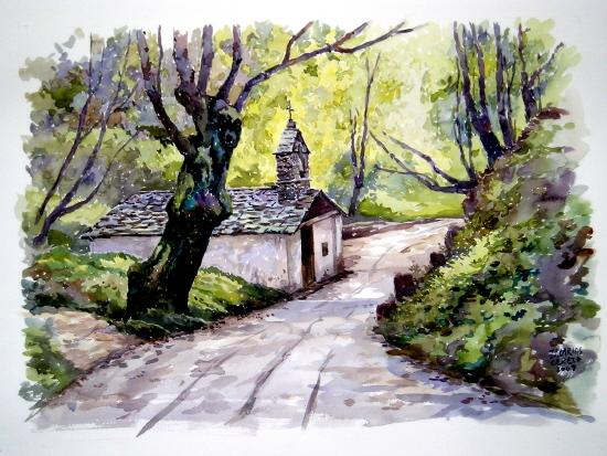 Ermita junto al camino
