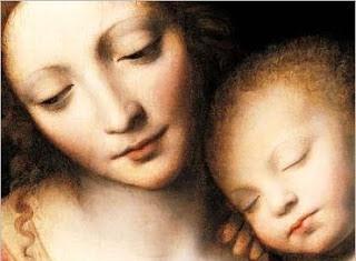 Sueño del niño Jesús, detalle - Bernardino Luini